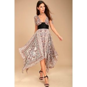 NWT Free People You For Me Printed Maxi Dress